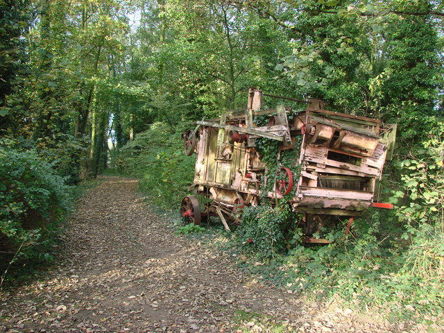 Abandoned farm machinery, Stapleton Park