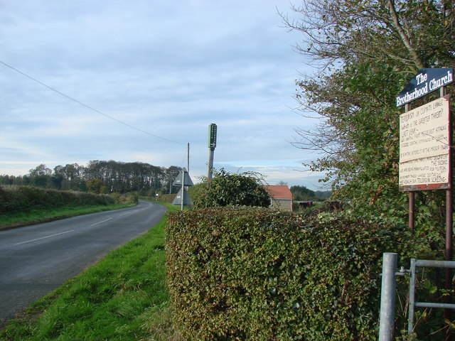 New Lane, Stapleton, looking towards the junction with Bank Wood Road.