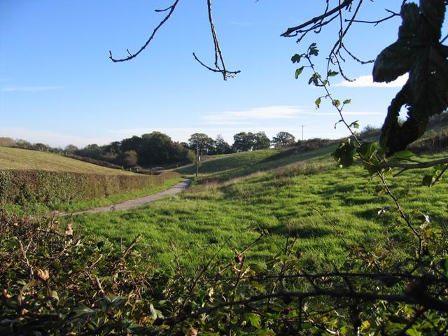 Valley near Caer-Estyn