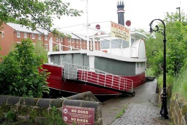 Disused floating restaurant