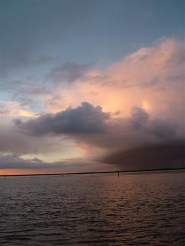 Approaching storm over Breydon Water.