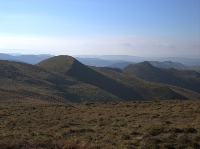 View of the hillscape of north Ceredigion