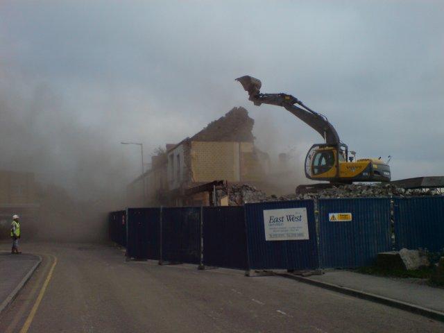 Demolition of upper Park Street