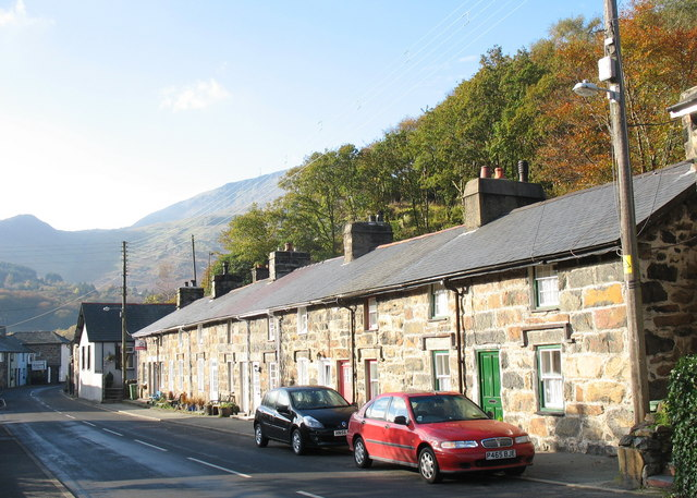 Terrace of Cottages and Snooker Hall on the Eastern Approach to Beddgelert