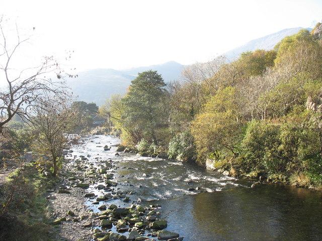 Afon Glaslyn from Pont Sygun Fawr