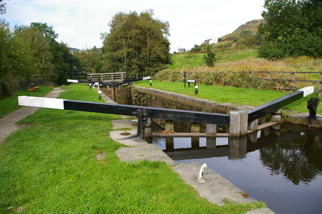 Pinnel Lock, Rochdale Canal near Walsden