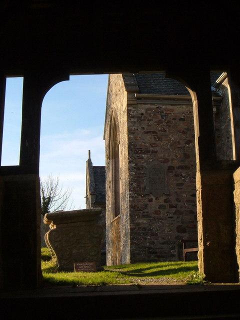 Through the lych gate, Cornwood