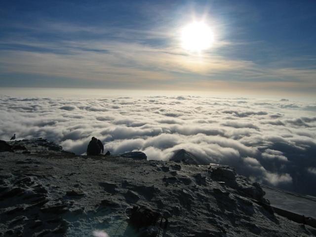 Temperature inversion on Yr Wyddfa/Snowdon