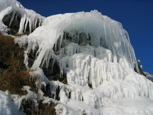 Ice Formation above Zig Zag path on Yr Wyddfa/Snowdon