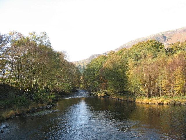 Afon Glaslyn from the Sygun Mine Bridge