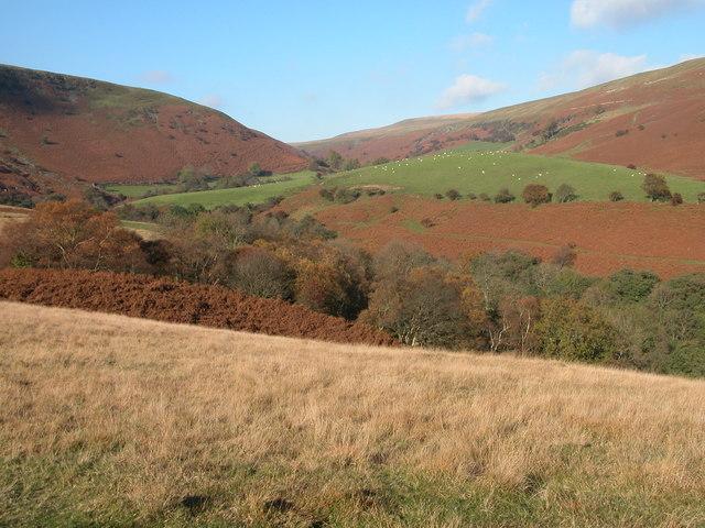 The valley around Blaen-bwch