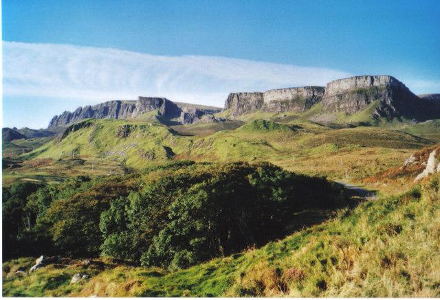 Looking south west from Druim nan Siochd