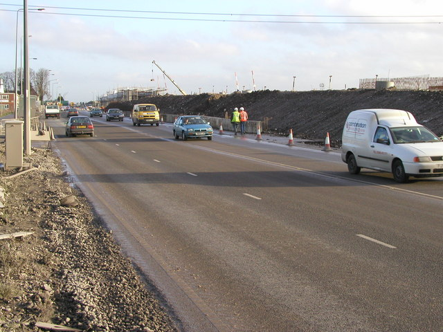 Saltend Flyover during its construction