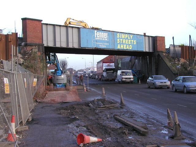 Hedon Road during renovation work