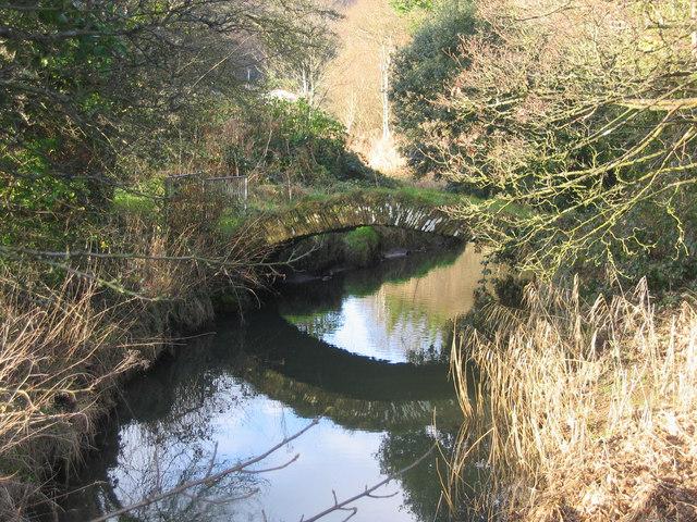 The Roman Bridge over the Clyne River at Blackpill, Swansea