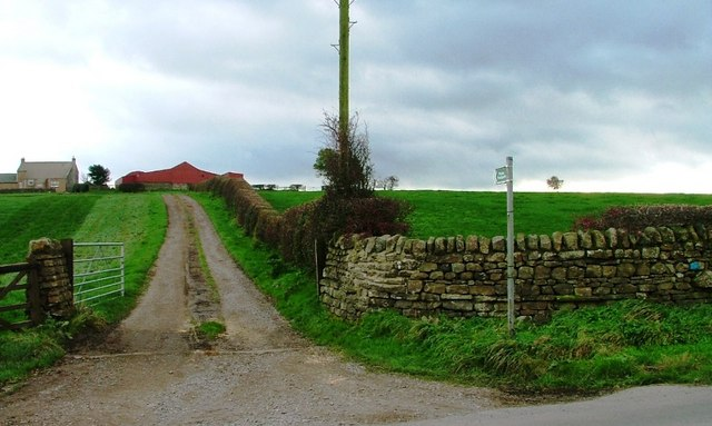 Farm Track and Footpath to East Crane Row