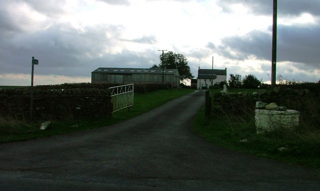 Farm Track and Footpath to Cold Hurst
