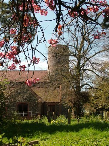 St Nicholas Church, Bradwell in spring.
