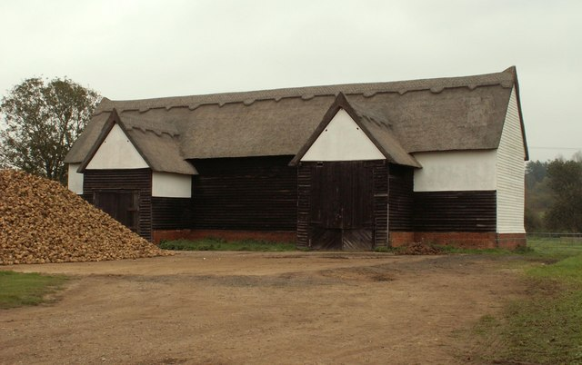 Thatched barn at Lower House Farm