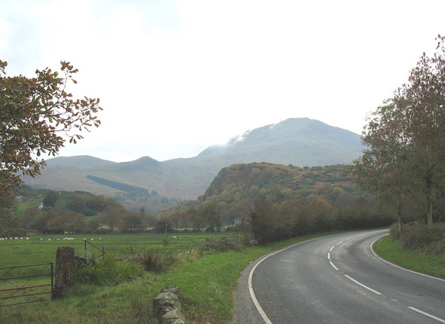 The Flood Plain of Afon Glaslyn from the A498