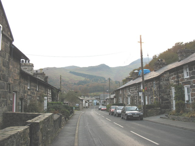 The older part of Beddgelert village