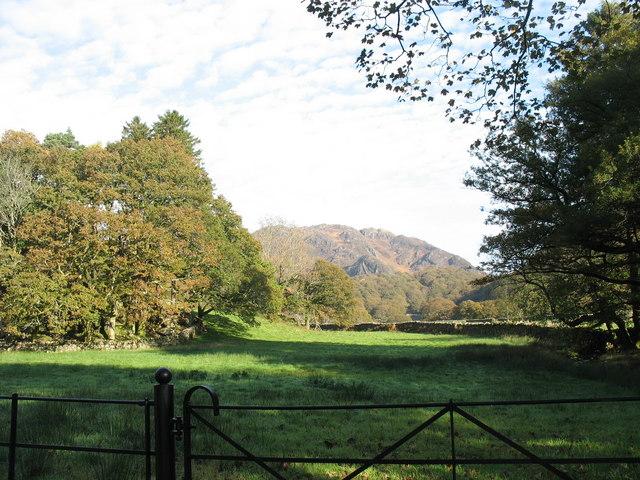 Valley floor land at Craflwyn Hall