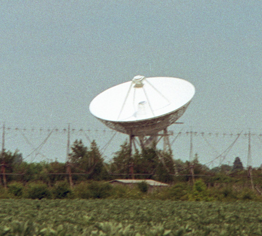 Radio telescopes and dish telescope