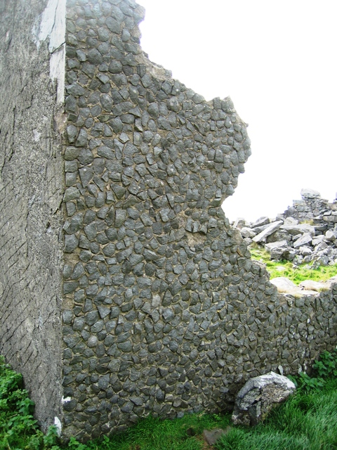 Corner of ruined building