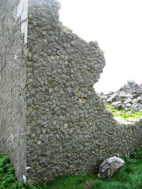 Corner of ruined building