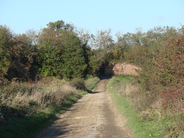Disused Railway, crossing Long Lane, Near Kirk Smeaton