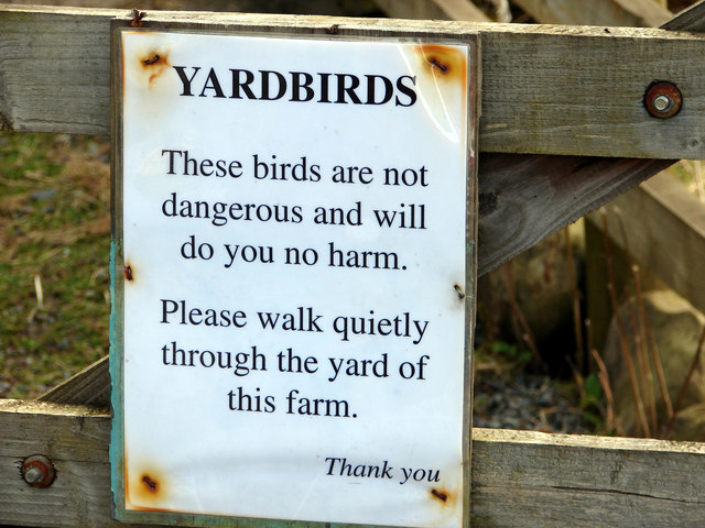 Sign at Dent Head Farm
