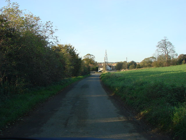 Sleep Hill Lane, looking to the junction with Wrangbrook Lane
