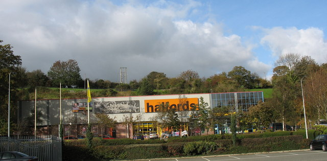 Halfords Store on the Bangor Retail Park