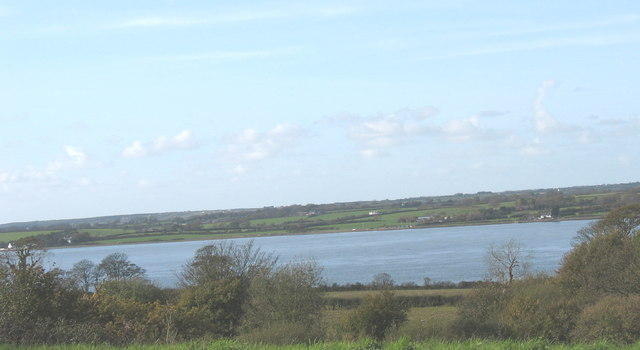 Farmland along the shores of the Menai Straits