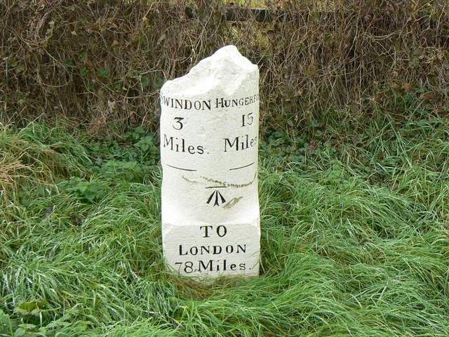 Milestone on the B4192 outside Swindon