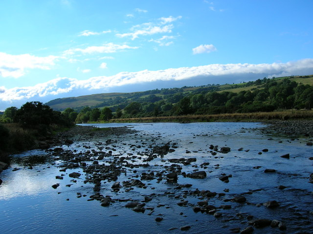 Afon Banwy  down to its bones
