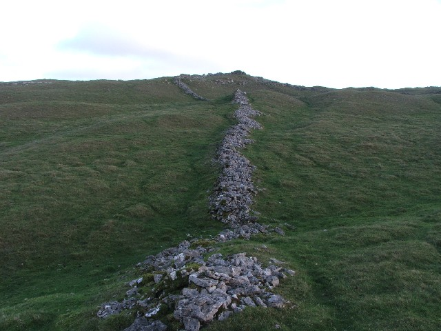 Ruined Limestone Drystone Wall.