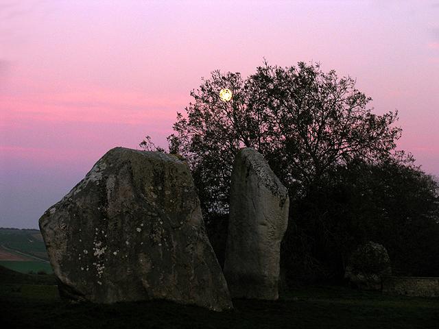 Moonrise over Avebury