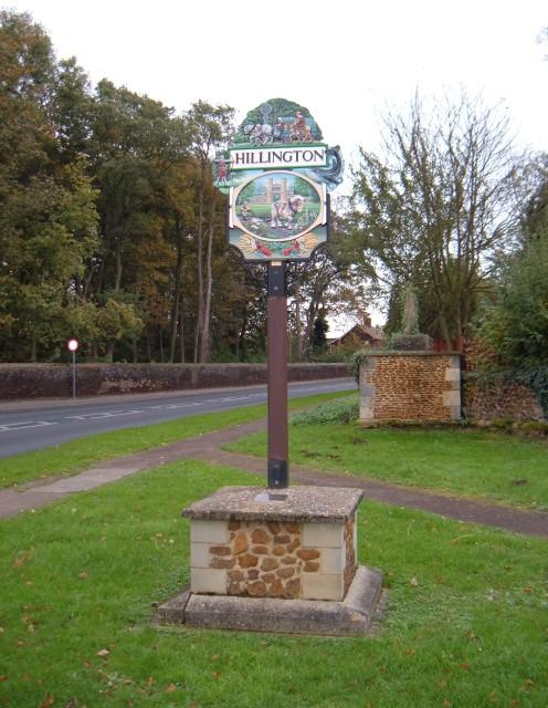 Hillington village sign