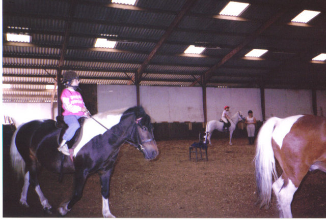 Riding inside at North Humberside Riding Centre