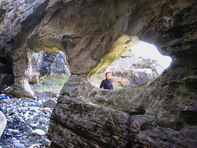 Weird rock formations on Camas Sgiotaig, Eigg