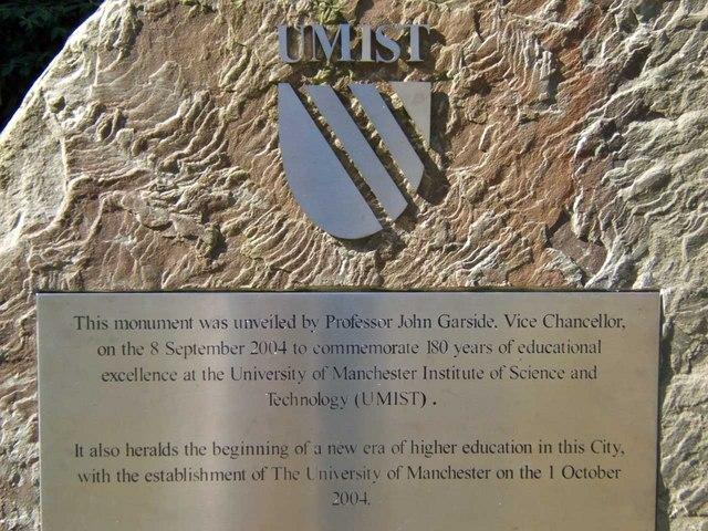 UMIST Plaque