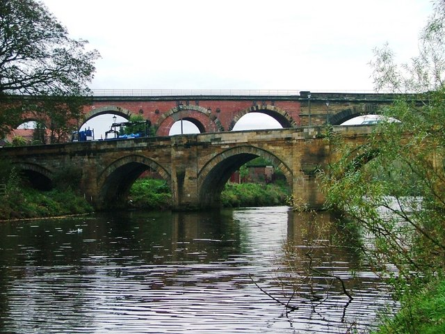Two Bridges and the River Tees