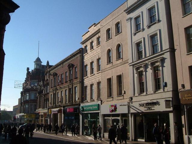 Southwestern end of Exeter High Street