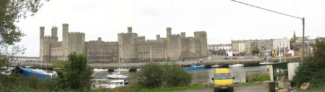 The south side of Caernarfon Castle