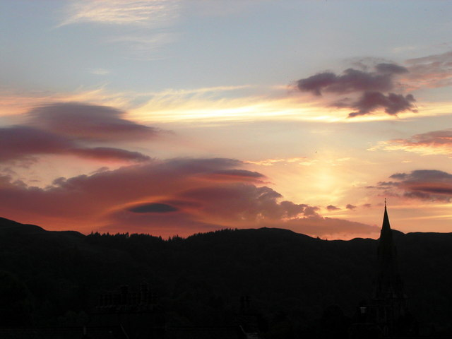 Sunset over Ambleside