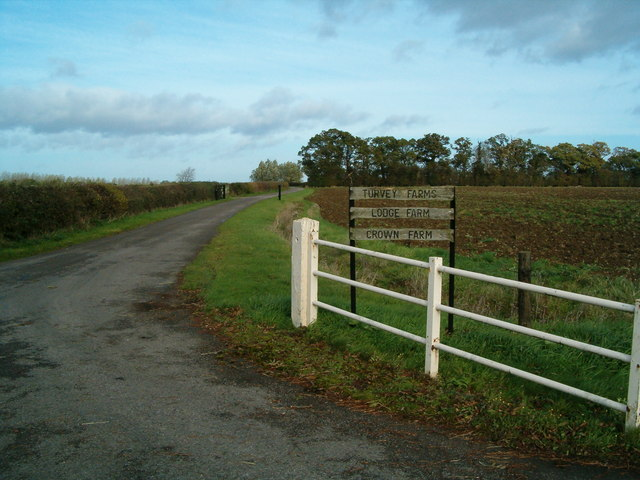 Entrance to the Turvey Farms