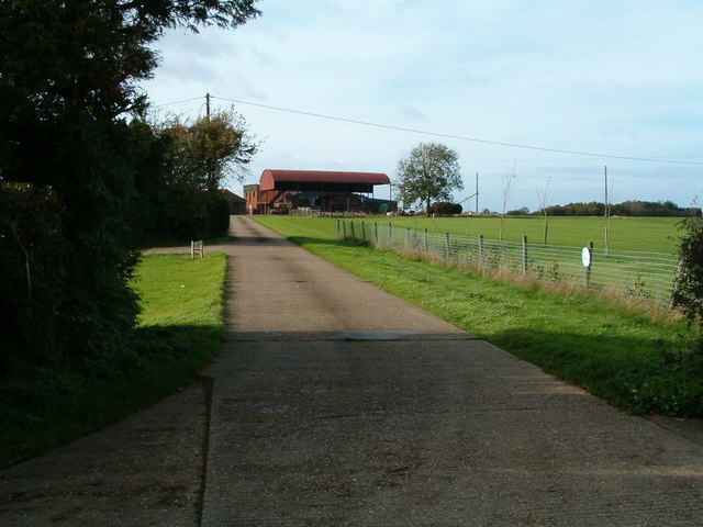 The entrance to Dovecot Farm