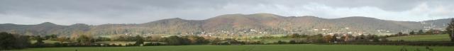 Malvern Hills from The Danemoor Crossroads