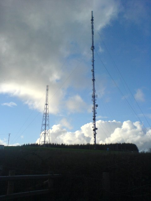 Carmel transmitter masts